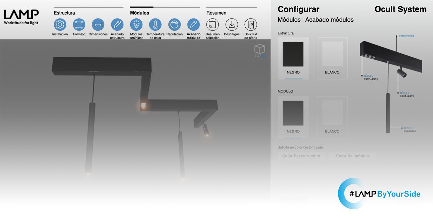 portada Configurador Ocult System de Lamp