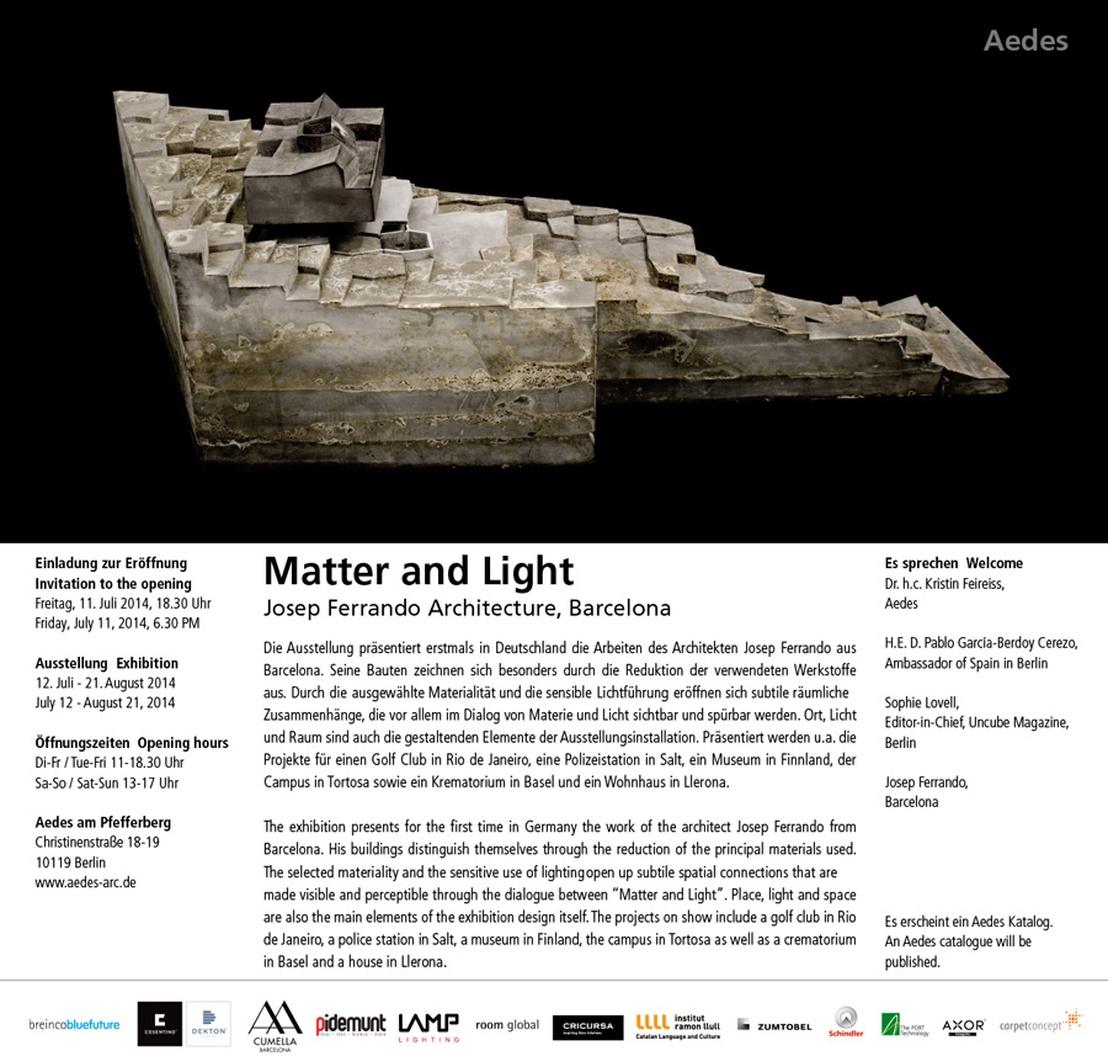 Josep Ferrando Materia y Luz Aedes Berlin 1