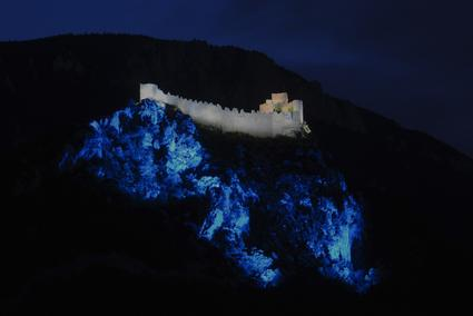 Puilaurens Cathar Castle noche