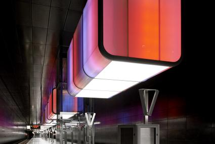 HafenCity University Subway Station rojo